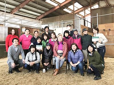 藤本美芽先生馬のマッサージ講習会